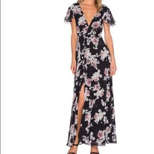 The Jetset Diaries Floral Wrap Dress (XS)